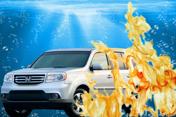 car fire or submersion