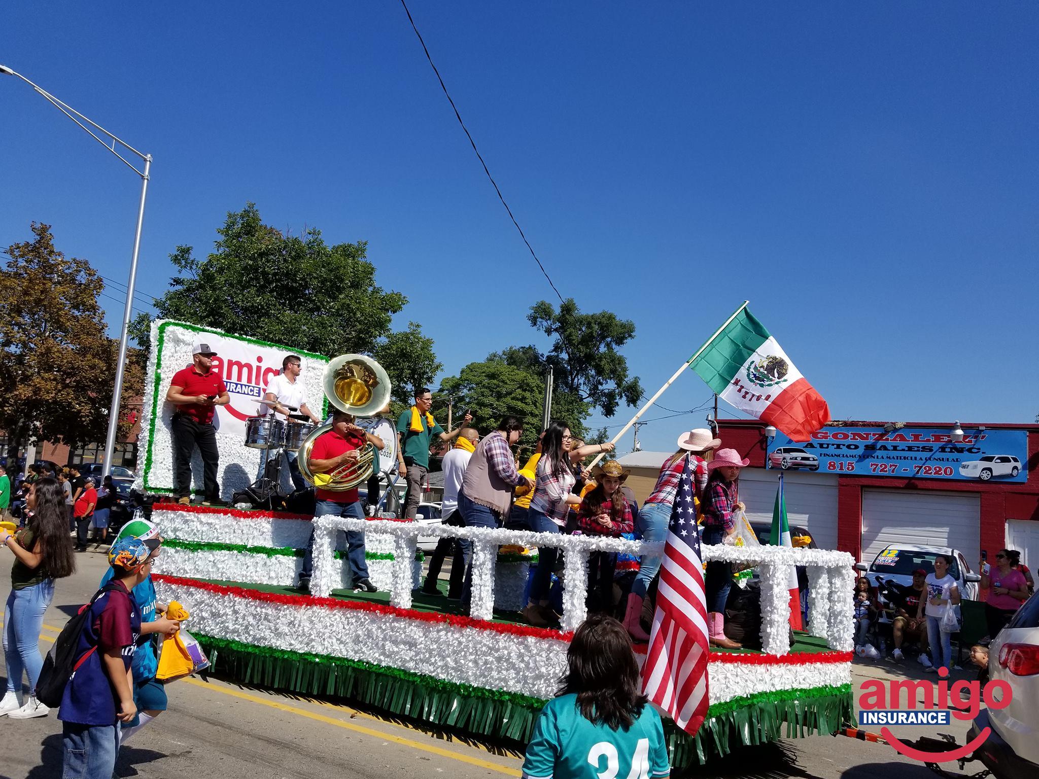 amigo float in parade